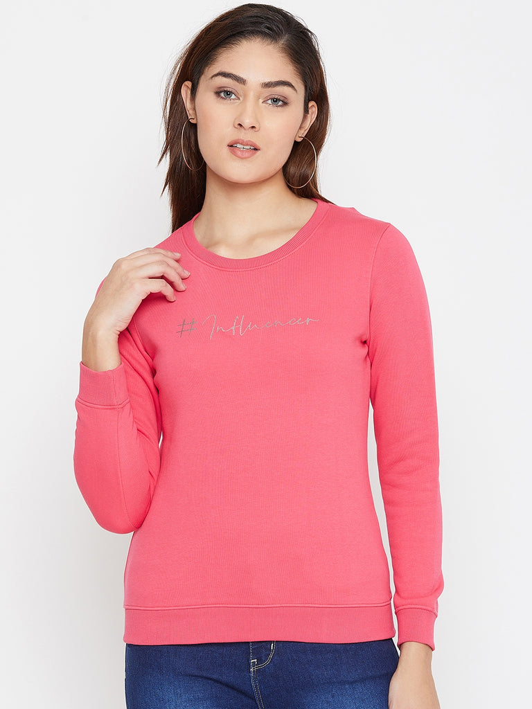 Octave Apparels Hot Pink Pullover for Women