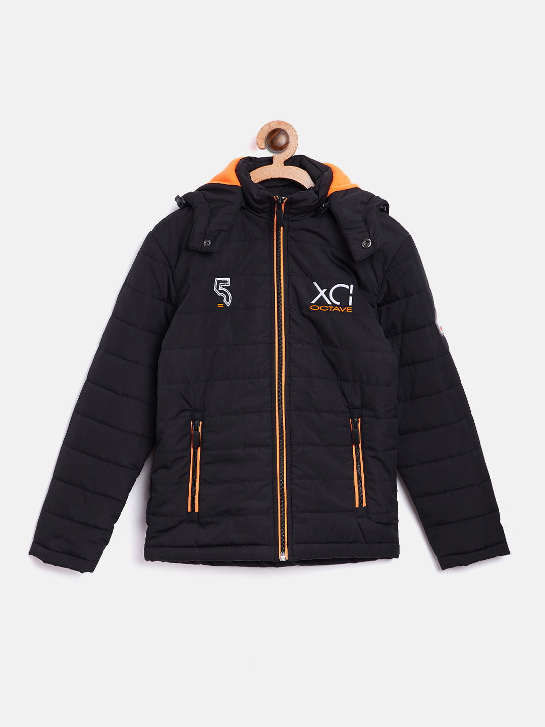 Octave Apparels Black Jacket For Kids