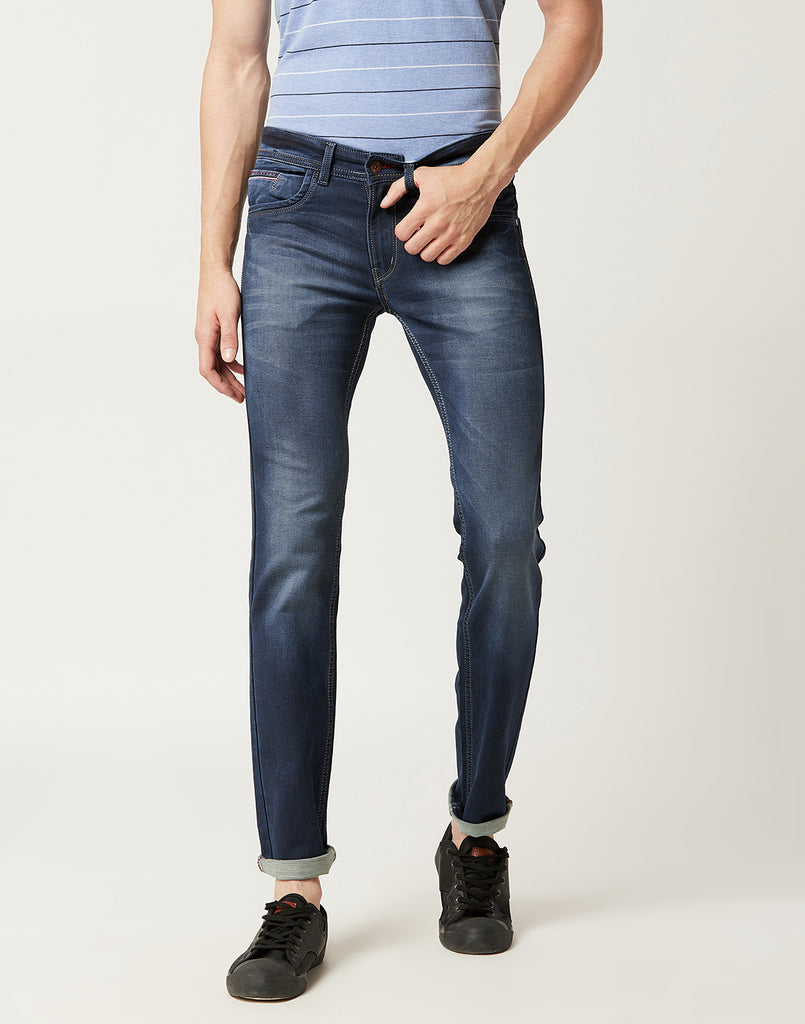 Octave Men Dark Blue Jeans