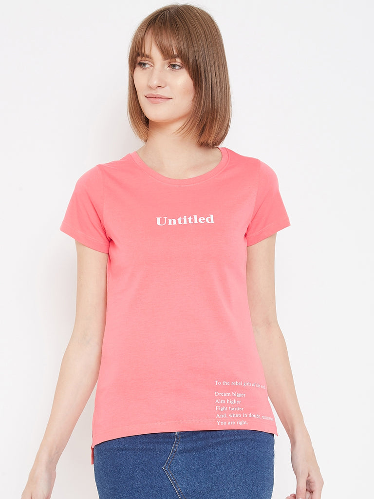 Octave?á Rose Pink colour T-shirt for women