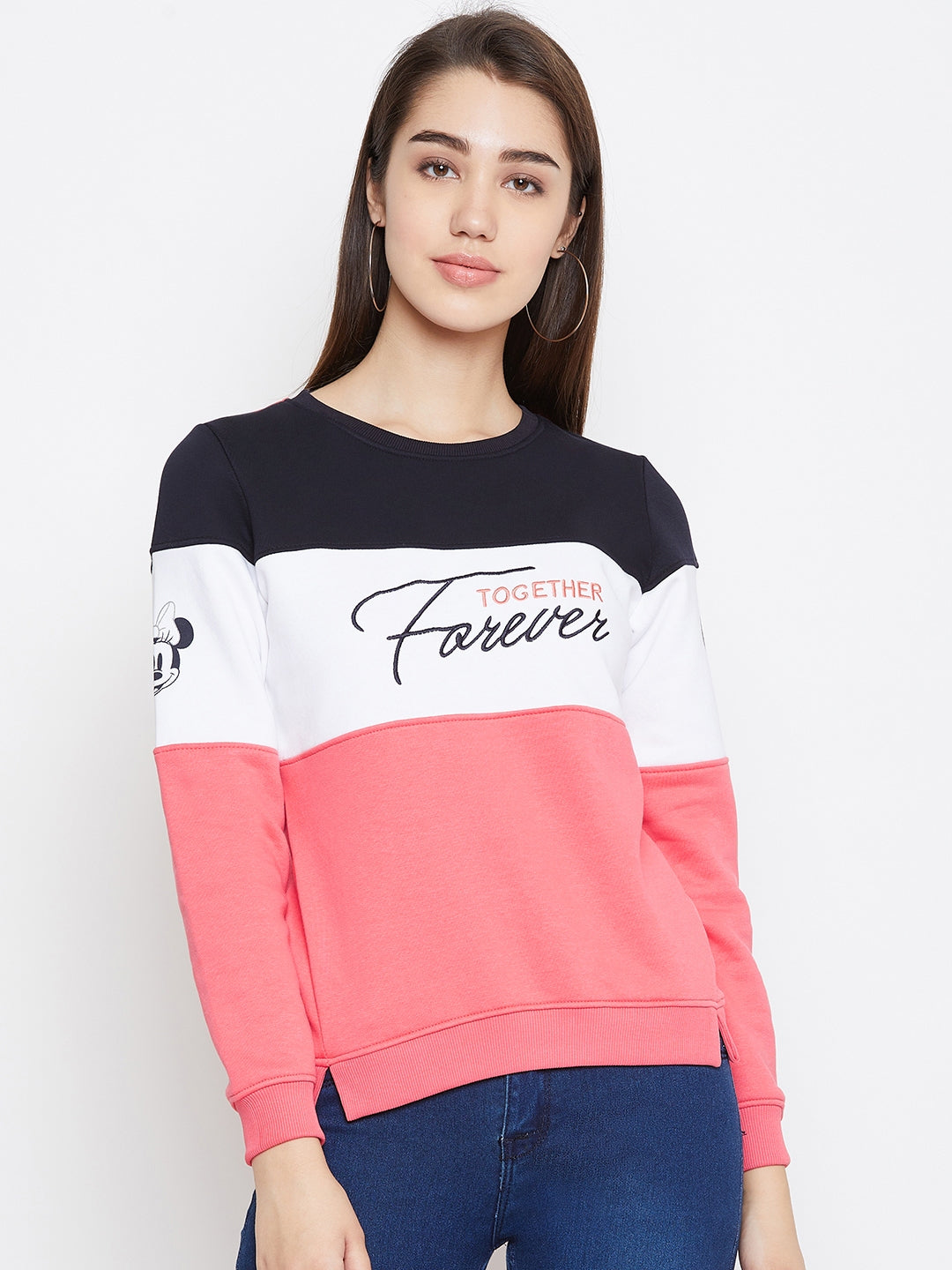Octave Apparels Rose Pink T-Shirt for Women