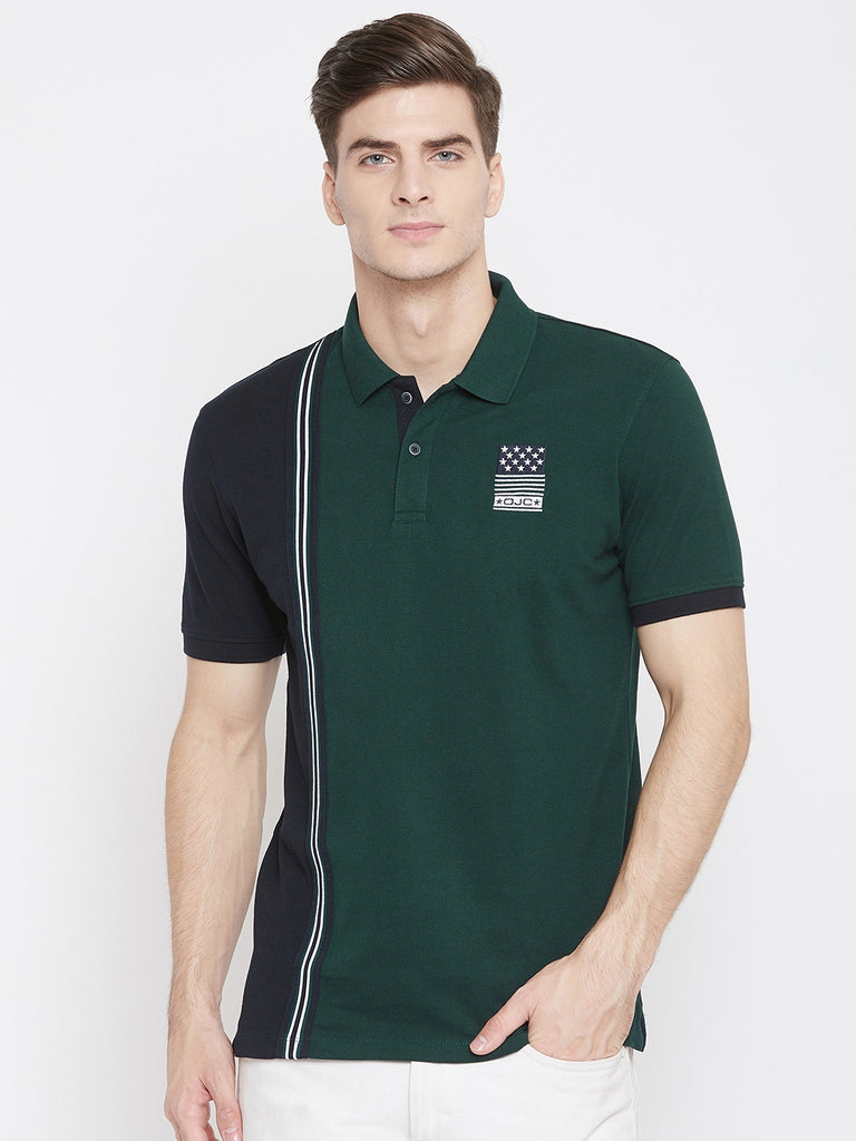 Octave Apparels mountain green color T-shirt for men
