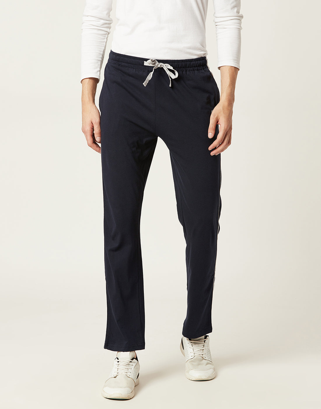 Octave Men Navy Trackpants