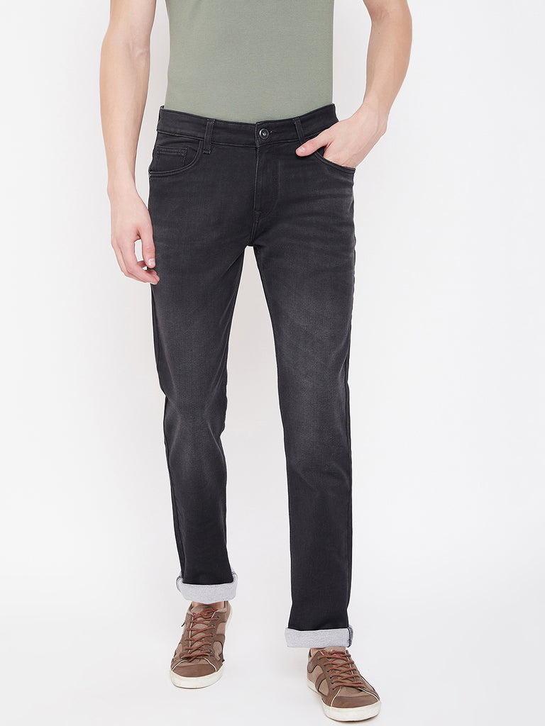 Octave Apparels graphite black jeans for Men