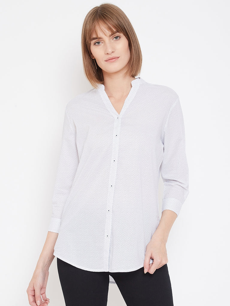 Mettle white Kurti style shirt for women