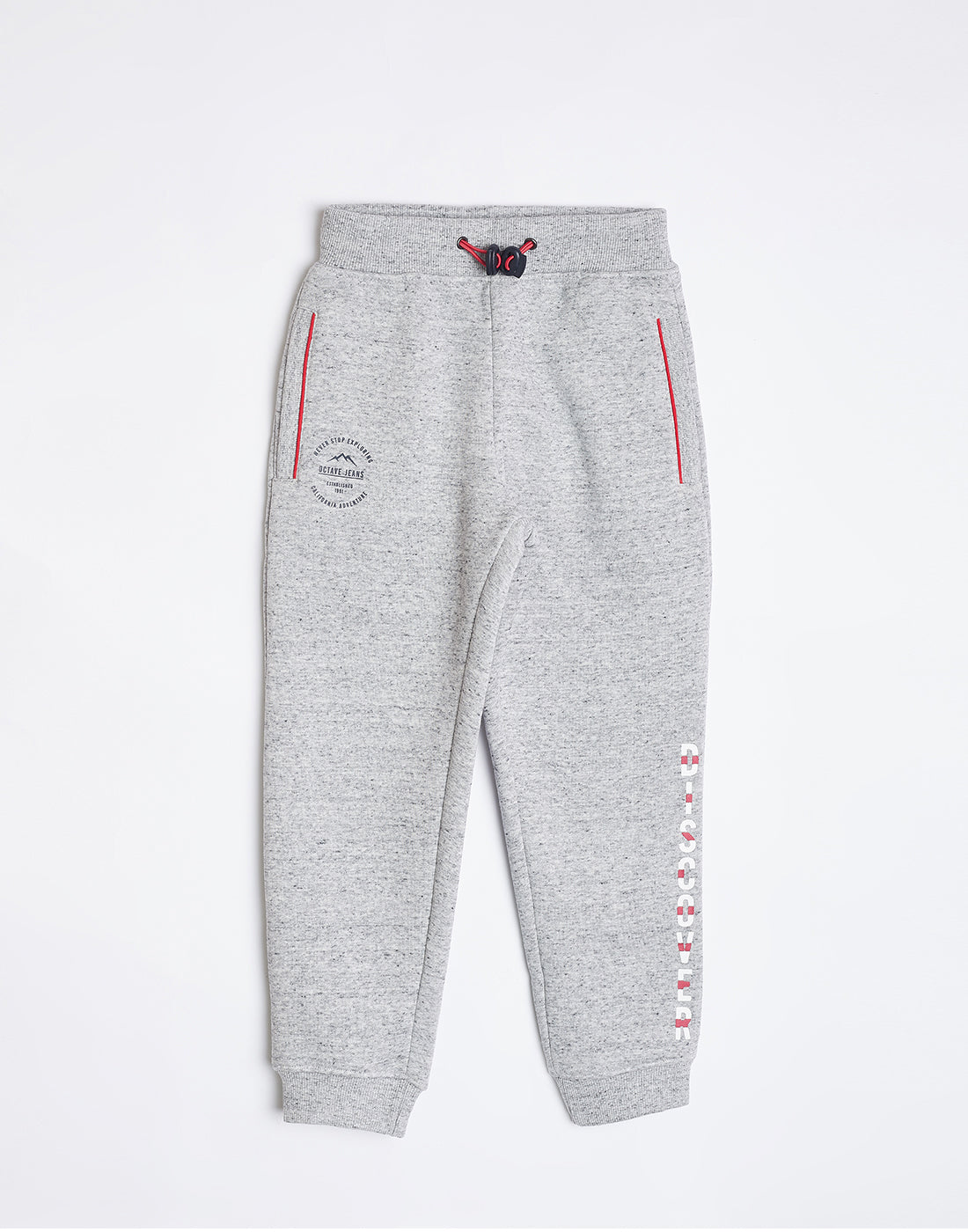 Octave Boys Snowflake White Track pants