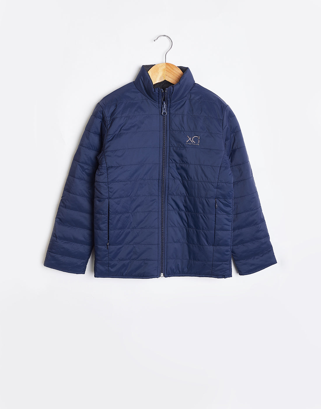 Octave Boys Denim Blue & Black Reversible Jacket