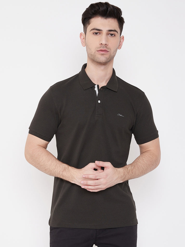 Octave Apparels Dark Olive colored tee for Men
