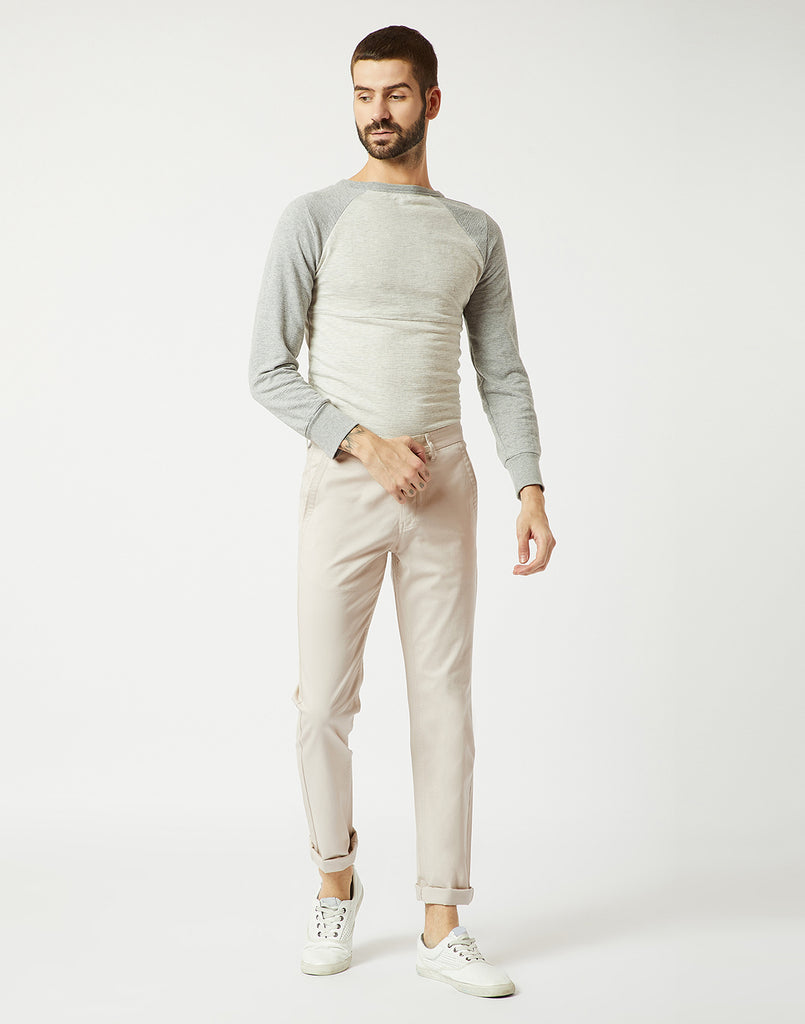 Octave Men Sand Chino Trousers