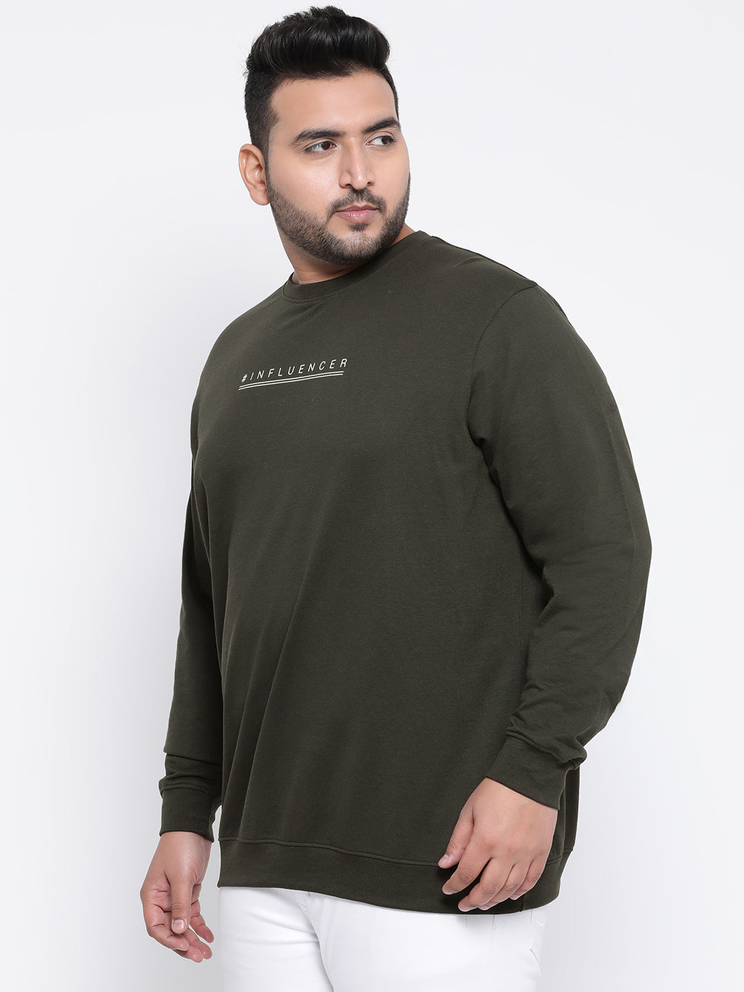 Octave Apparels Grey Sweatshirt for Men