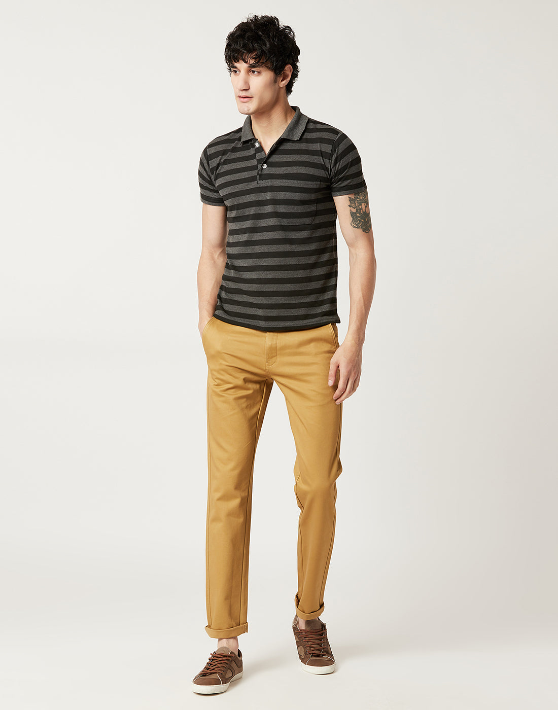 Octave Men Khaki Chino Trousers