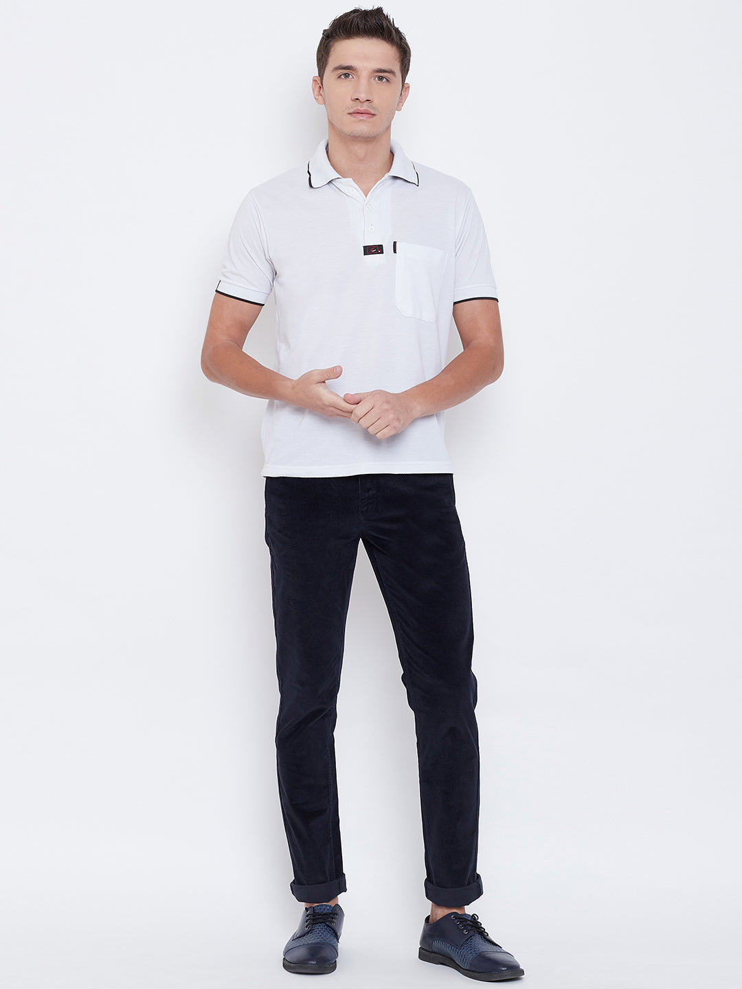 Octave Apparels Navy Pant for Men