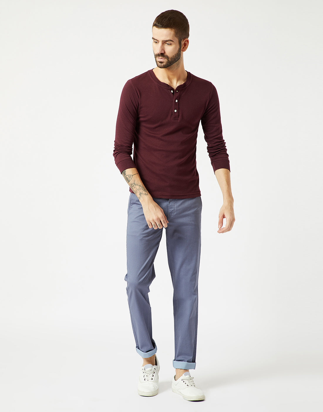Octave Men Sky Chino Trousers