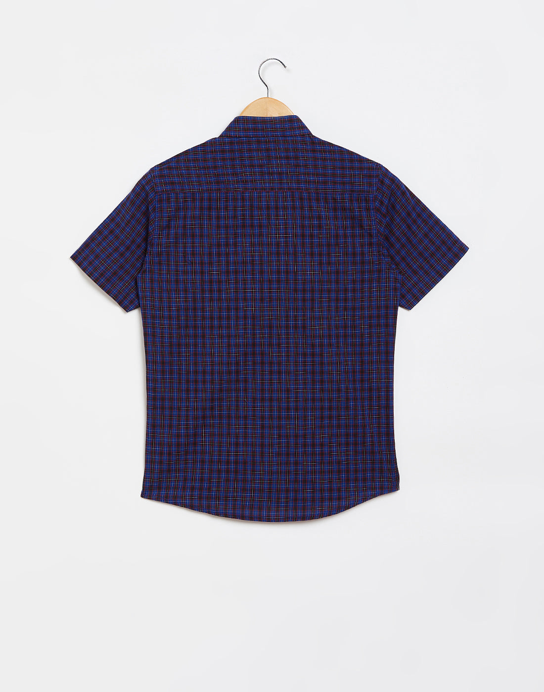 Octave Boys Denim Blue Checked Casual Shirt
