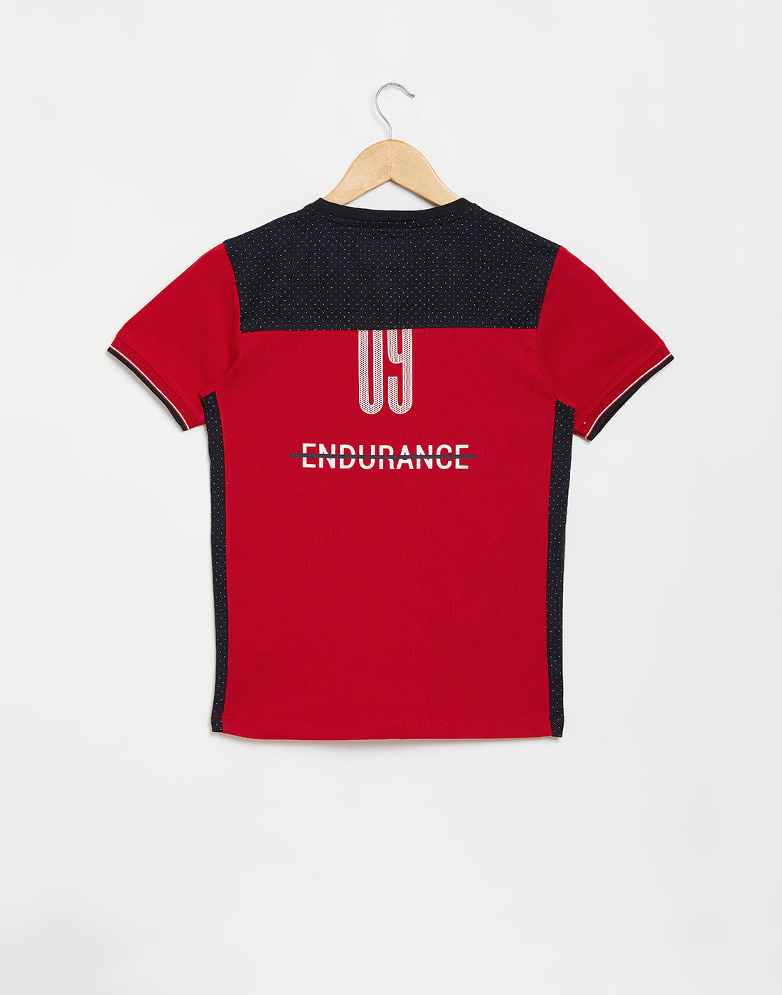 Octave Boys Brick Red Printed Tshirt