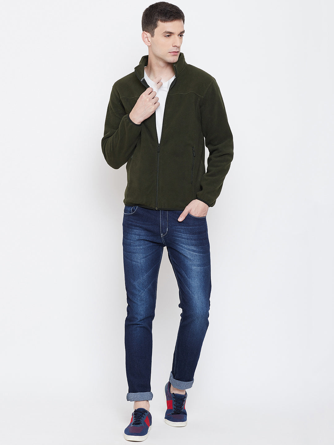 Octave apparels dark olive sweat shirt for men