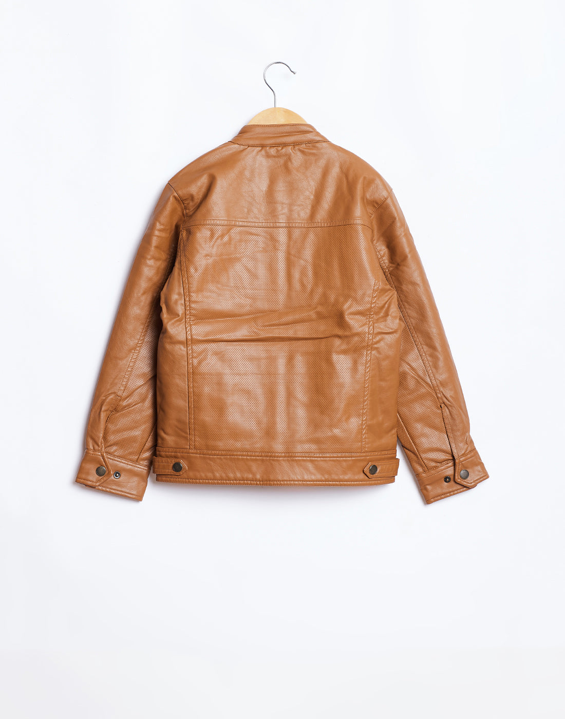 Octave Boys Rust Brown Biker Jacket