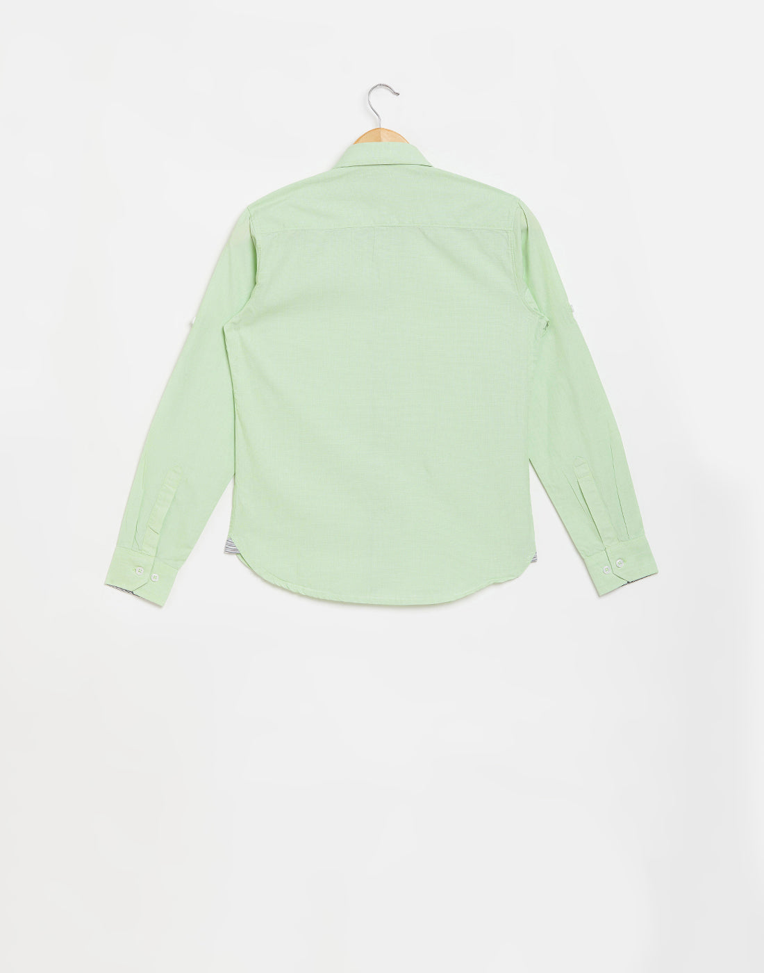 Octave Boys Sea Green Casual Shirt