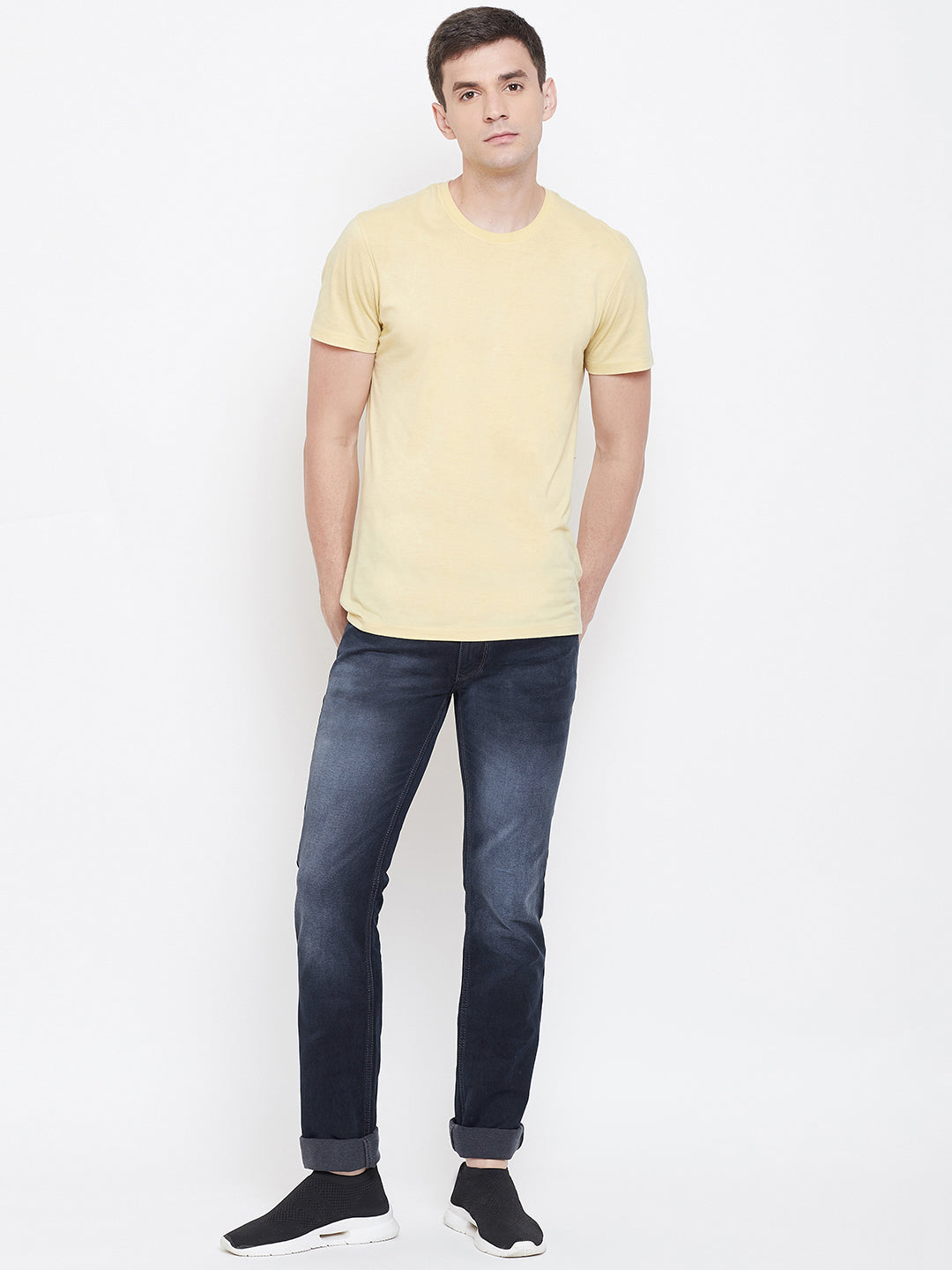 Octave apparels midnight color denim for men