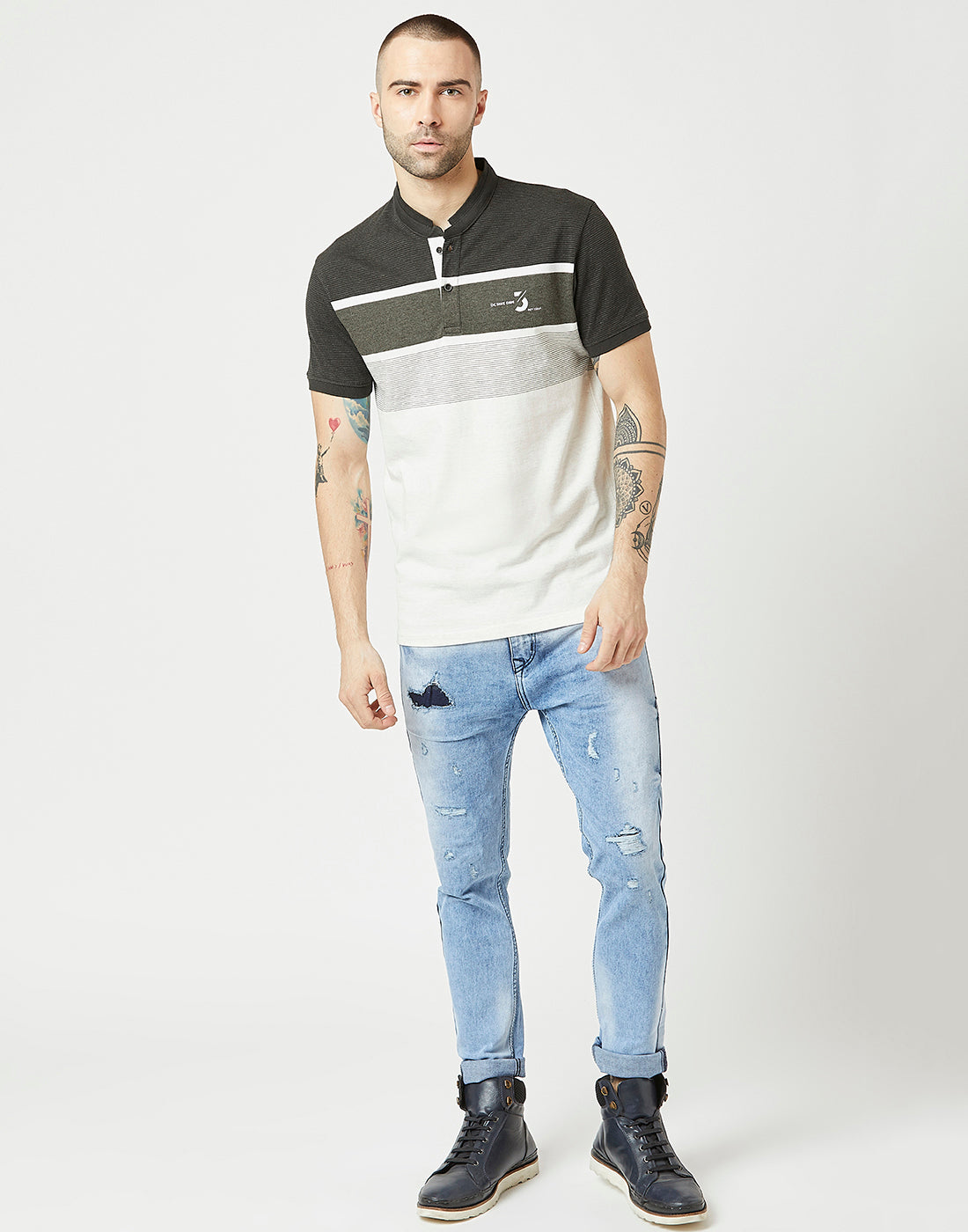 Octave Men Natural White Tshirt