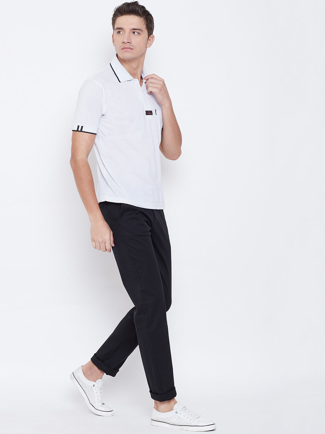 Octave Apparels Black Pant for Men