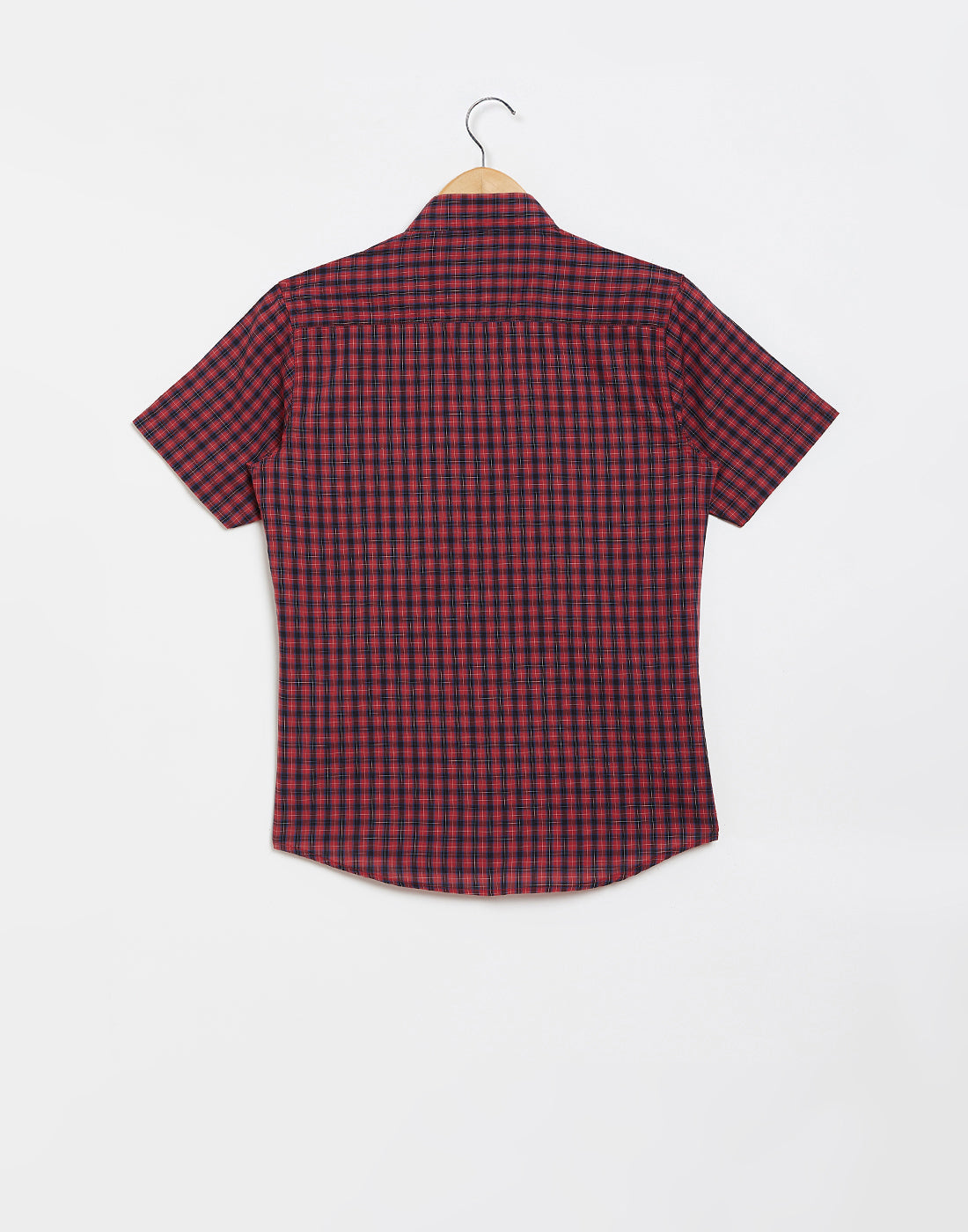Octave Boys Brick Red Checked Casual Shirt