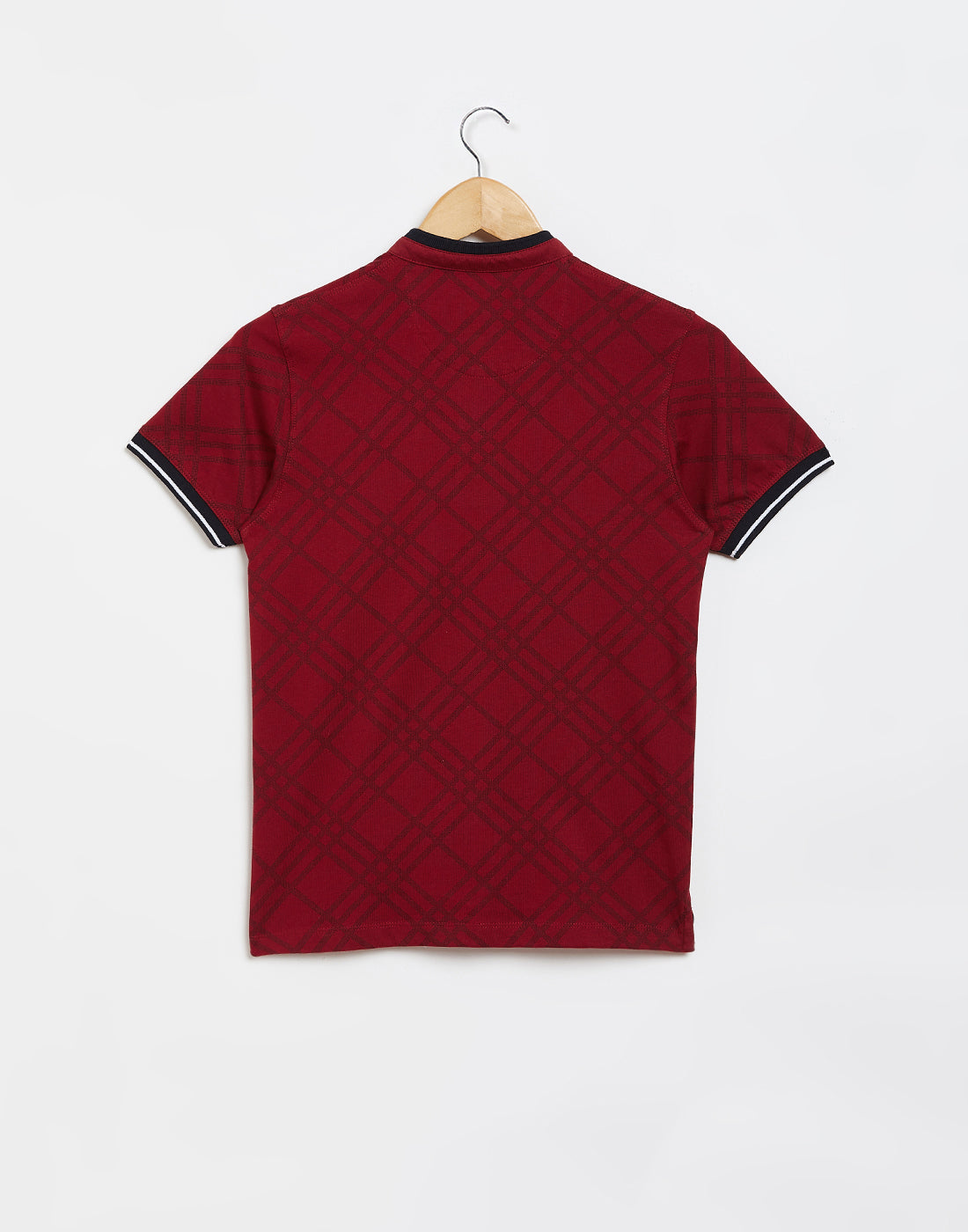 Octave Boys Salsa Red Checked Tshirt