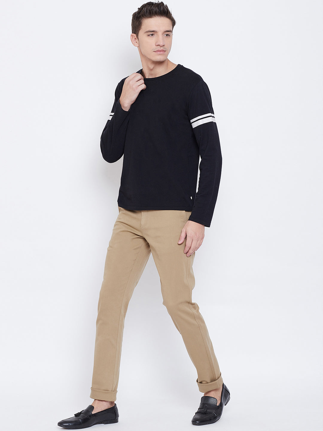 Octave Apparels Khaki Trouser for Men