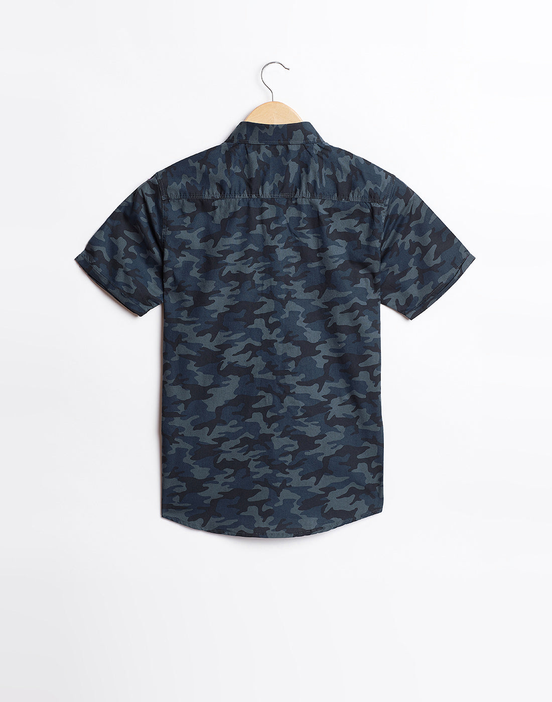 Octave Boys Charcoal Black Printed Shirt