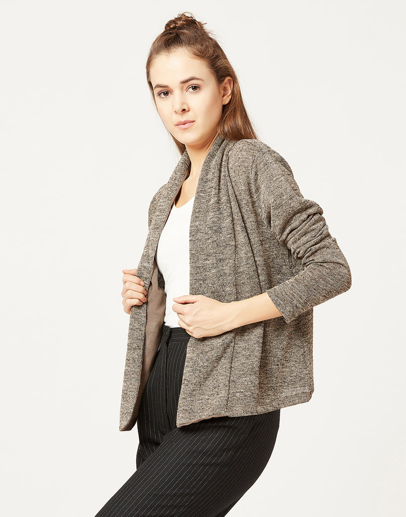 Mettle Women Tan Brown Shrug