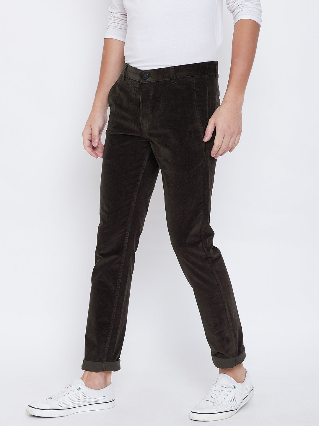 Octave Apparels Olive Pant for Men