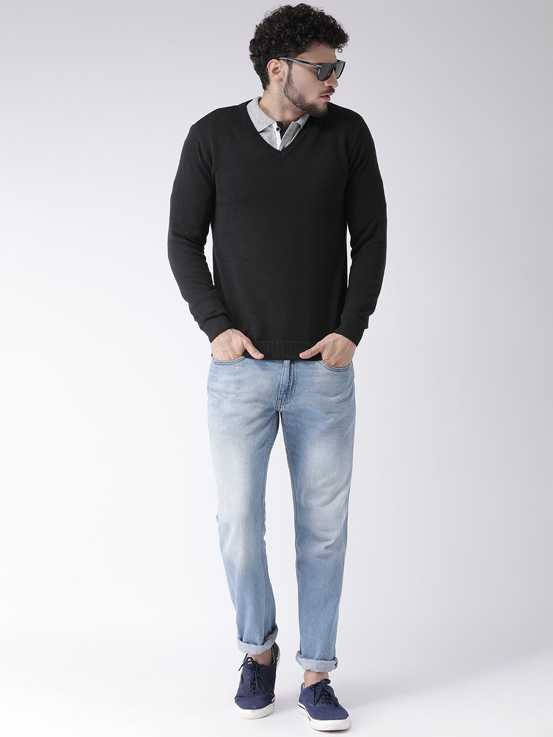 Mettle Black Sweater for Men