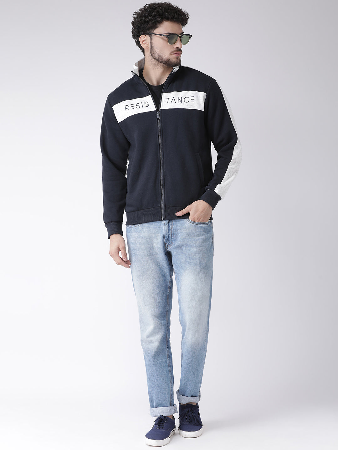 Navy Sweatshirt for Men by Octave Apparels