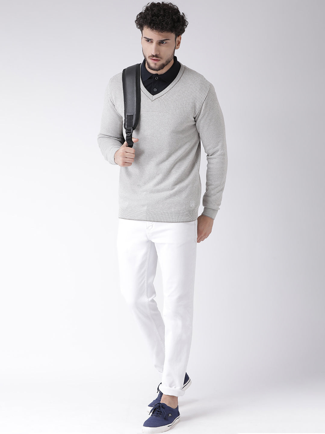 Octave Apparels Grey Sweater for Men