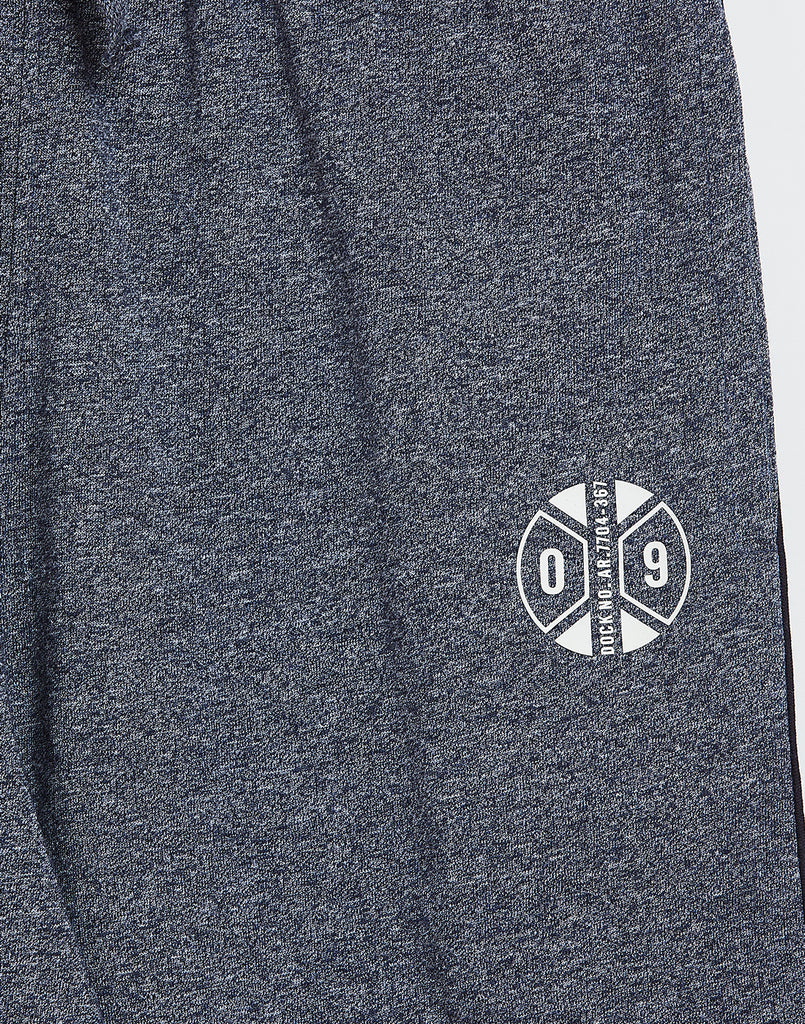 Octave Boys Midnight Grey Printed Trackpants