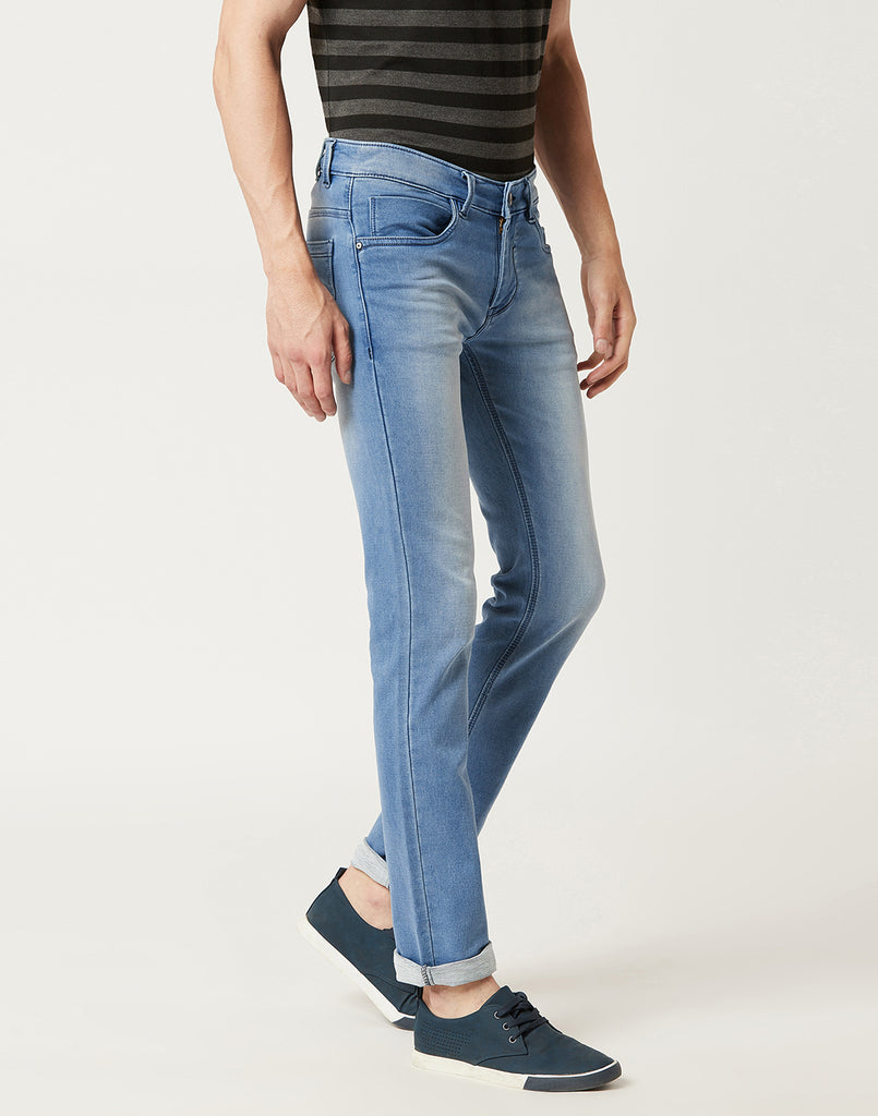 Octave Men Ice Blue Washed Jeans