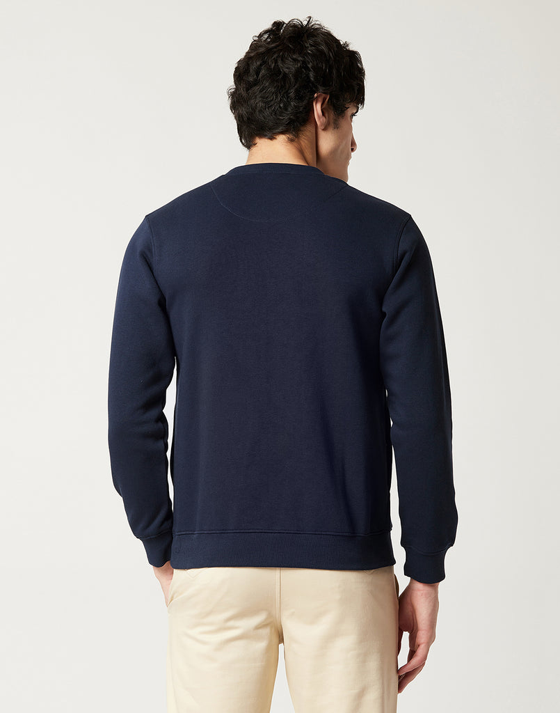 Octave Men Indigo Printed Sweatshirt