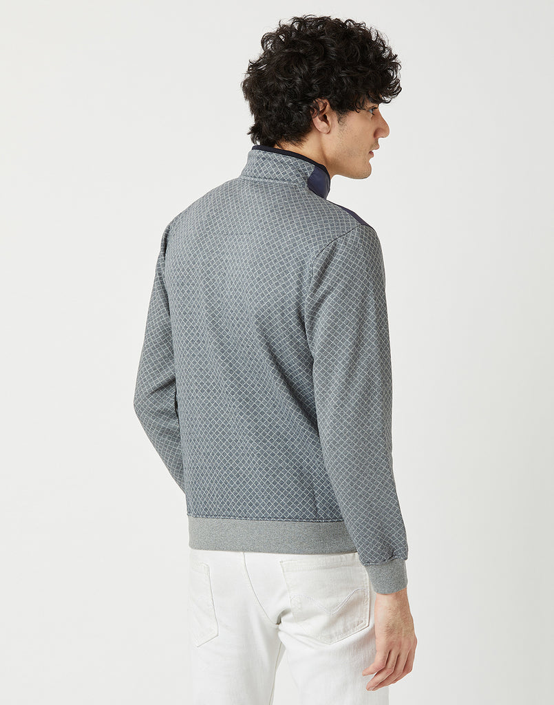 Octave Men Heather Grey Sweatshirt