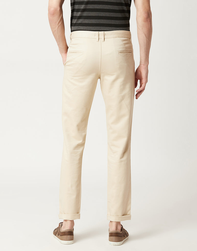 Octave Men Fawn Chino Trousers