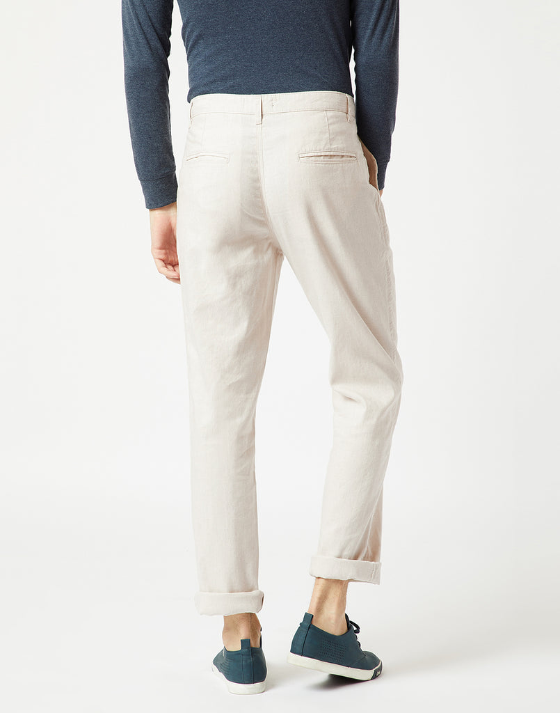 Octave Men Cream Chino Trousers