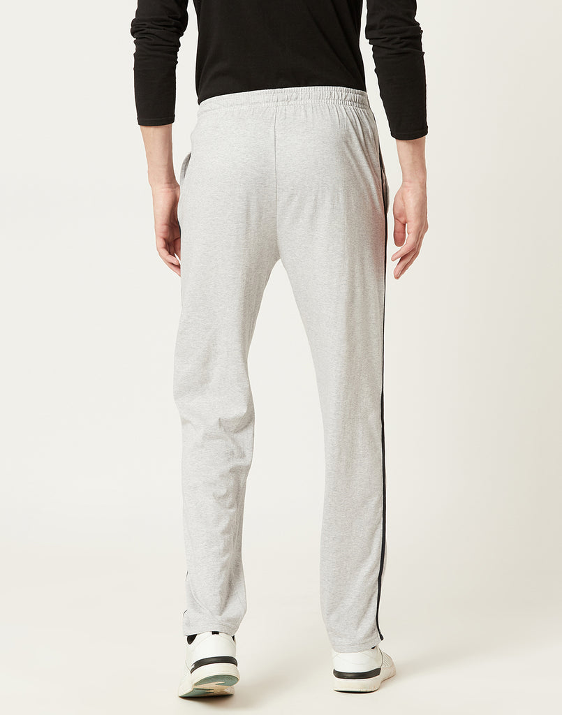 Octave Men Grey Melange Trackpants