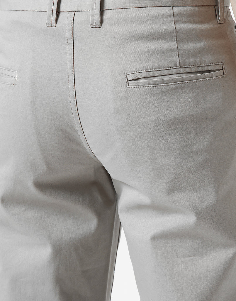Octave Men Silver Chino Trousers