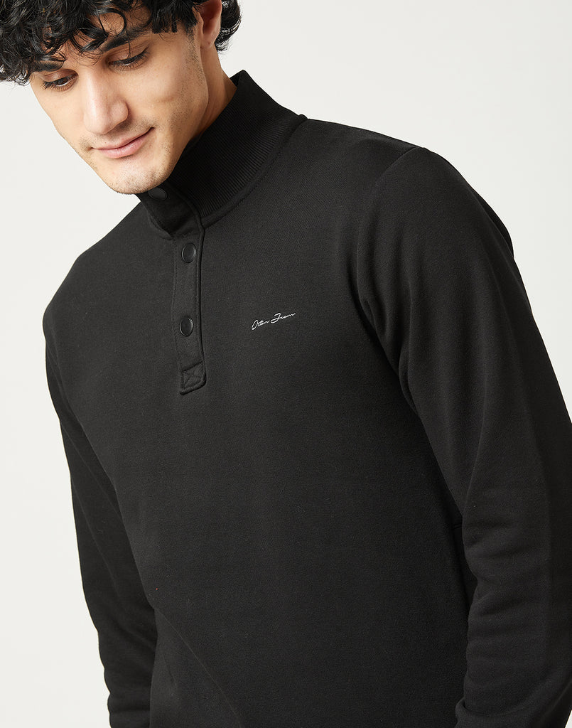 Octave Men Black Sweatshirt