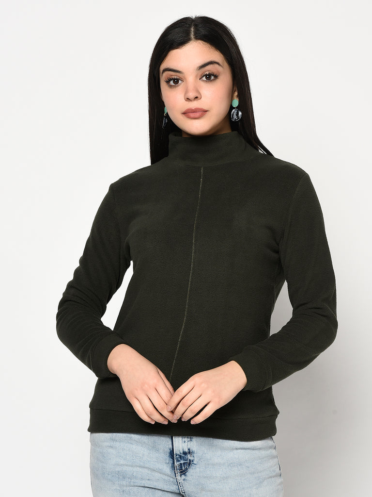 Women's Dark Olive Sweatshirt
