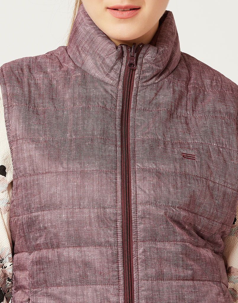Mettle Women Wine Coloured Reversible Jacket