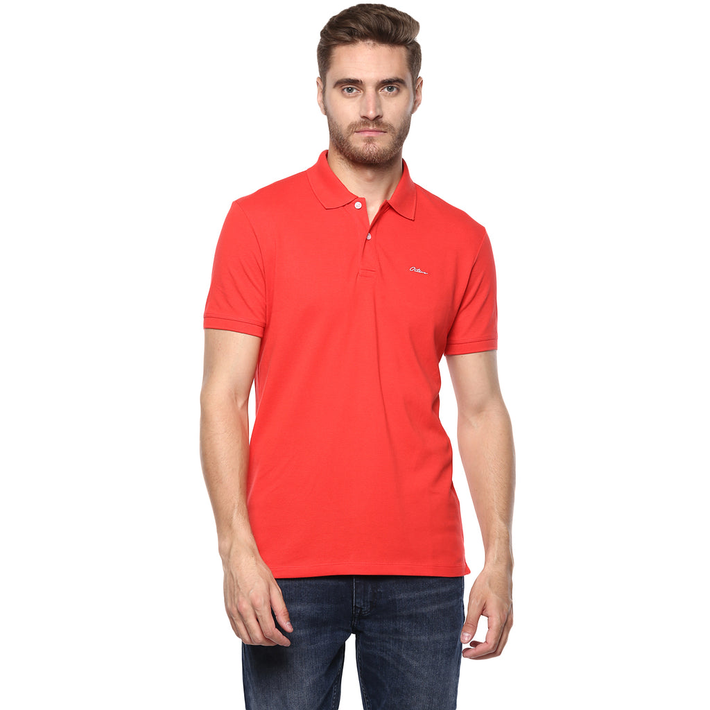 Miami Red Basic Polo Tee