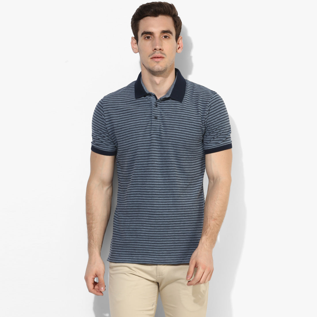 Mid Night Candy Stripe Polo Tee