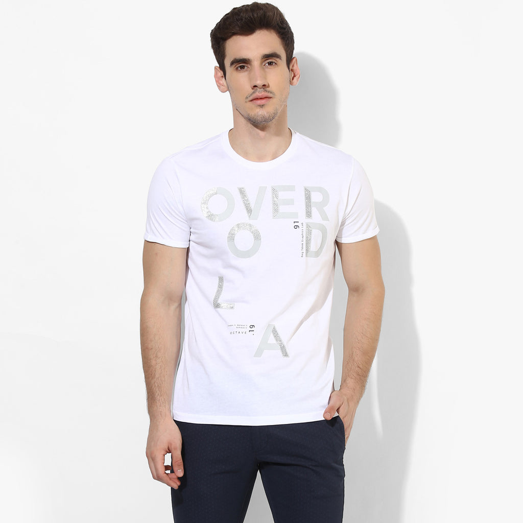 White Overload Graphic Tee