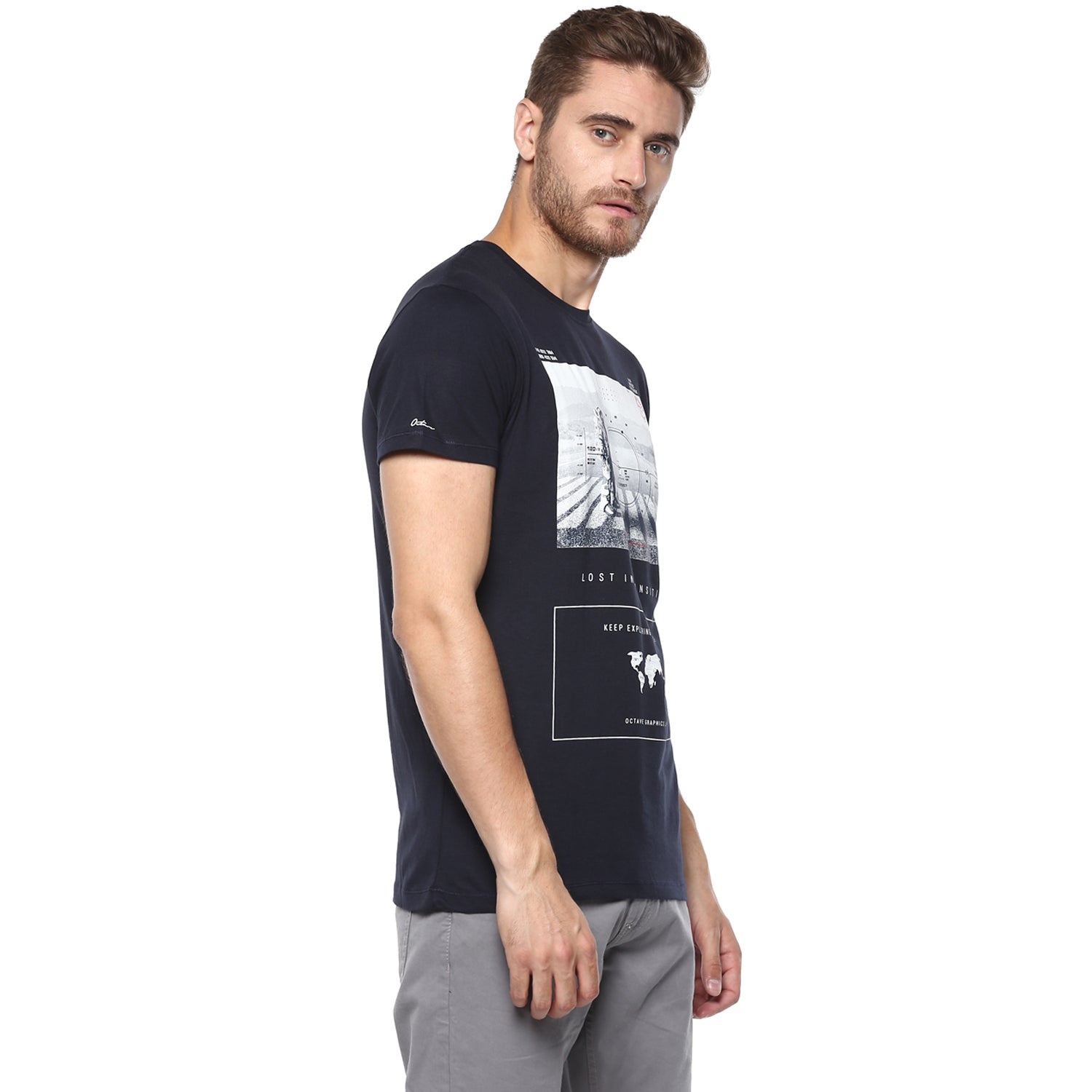Navy Astronaut Graphic Tee