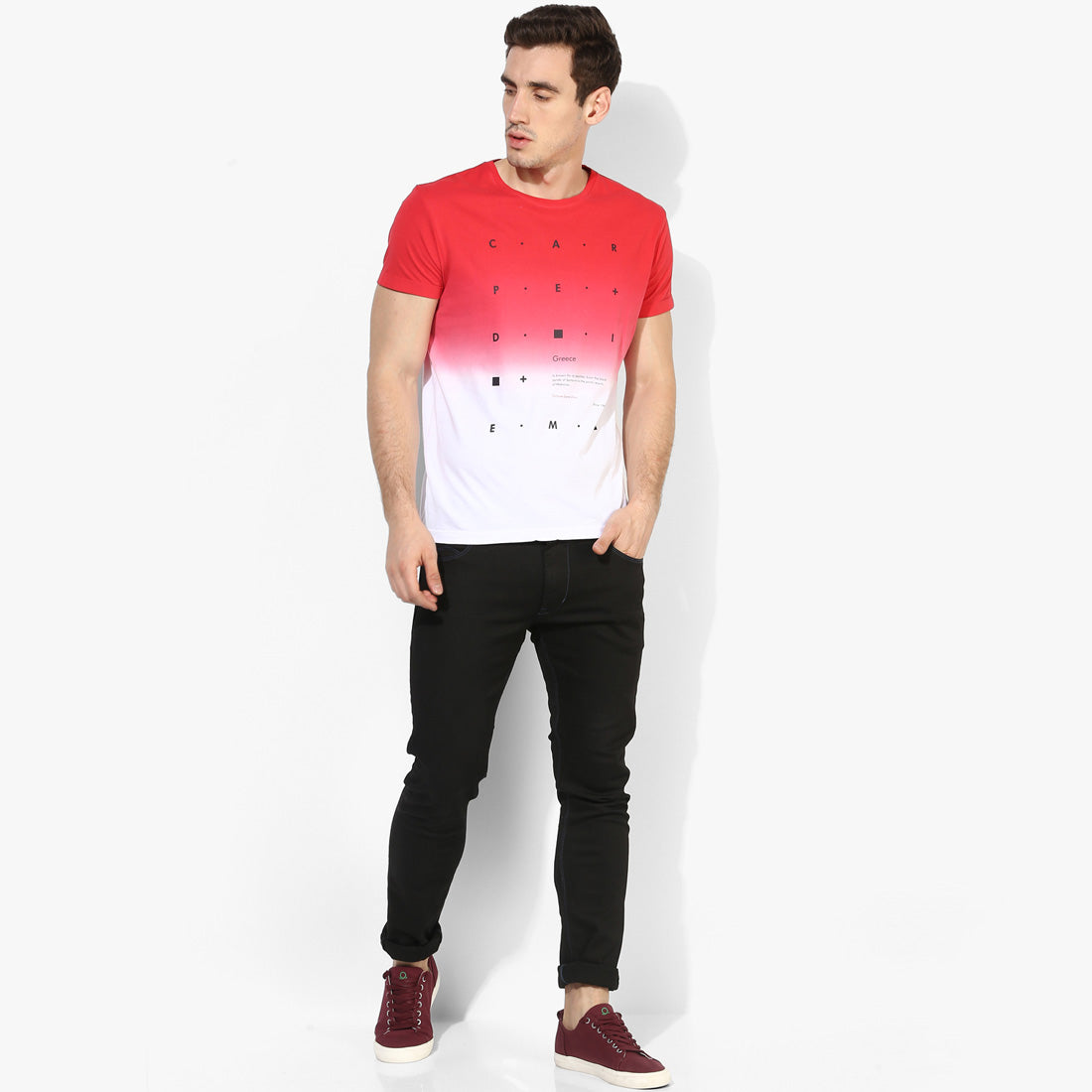 Miami Red CD Graphic Ombre Tee